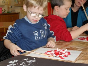 Working hard completing our snowflake prints