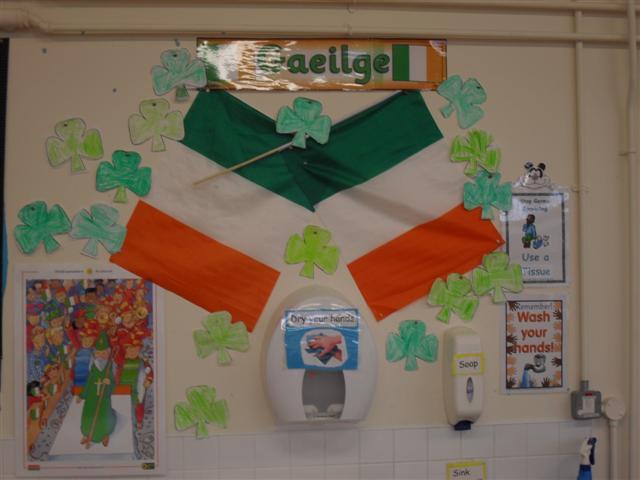 our new Gaeilge display
