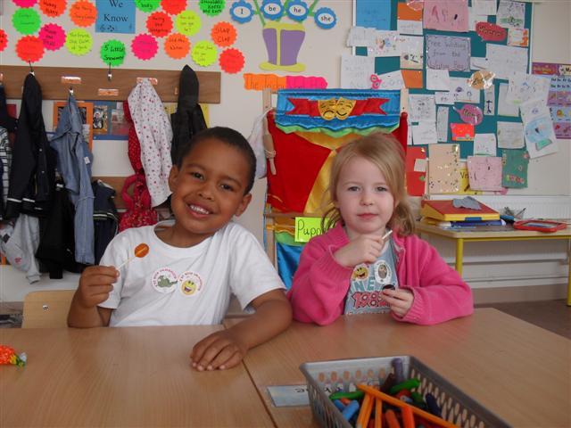 Kamil and Chloe smiling bravely!
