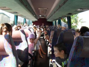 off we go on the bus