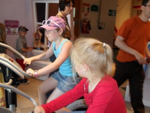 in the exercise room