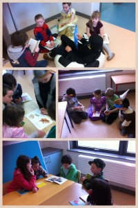 Shared reading with 2nd class